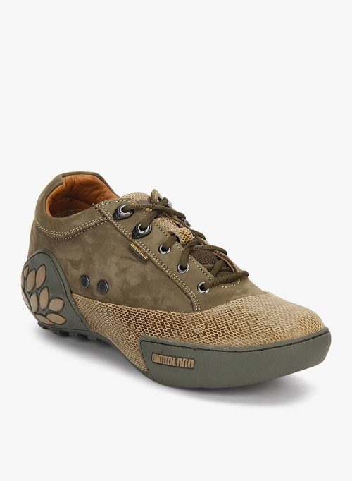 Woodland Casual Shoes OLIVE GREEN