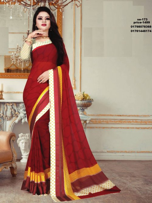 Indian Soft Georgette Saree se-173