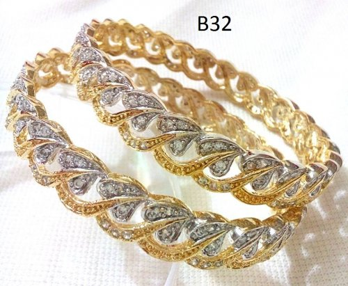 Gold Plated jewelry ornaments Diamond Bangles B-32