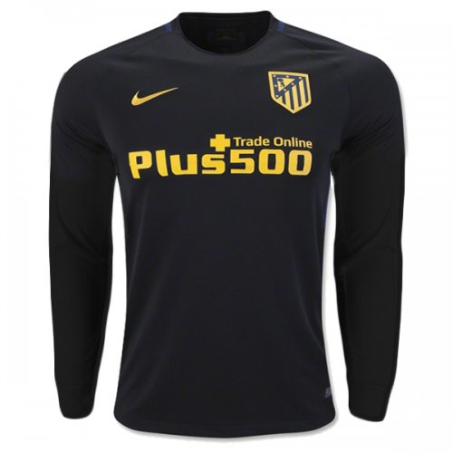 Atletico Madrid Away Black Long Sleeve Jersey Shirt 3846415fd