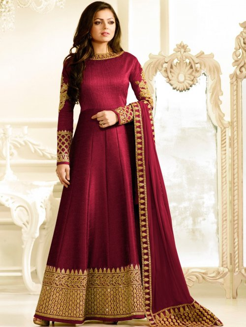 Unstiched Three Piece1407 Lt Hit chosa silk salwar kameez