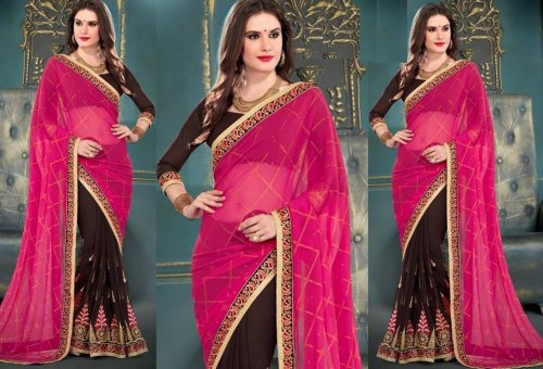 Georgette Saree collection ss398