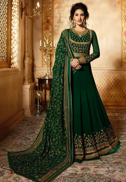 Semi-stitched geogette anarkali suits for woman