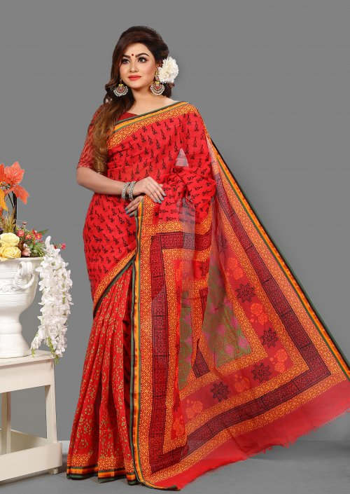Cotton Kota Special Block Saree for Woman bois-304