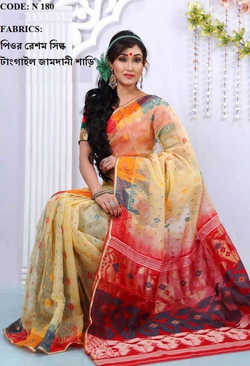 High Qulity Pure Cotton Saree n180