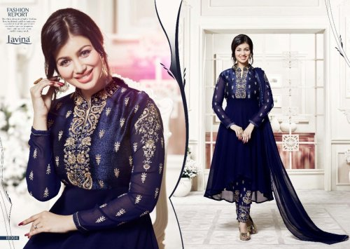 BEAUTIFUL STYLISH GEORGETTE WITH EMBROIDERY WORK salwar kameez suit ayesha 013