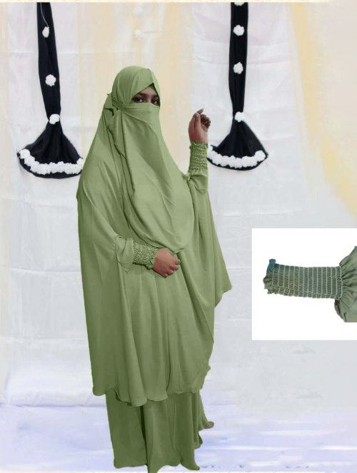 Khimar adjusted niqab with skirt borkha full set for women pv-13