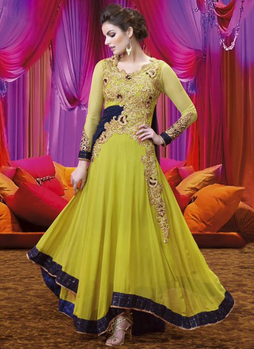 Gorgeious Designer Wedding And party Wear Floor Touch Silk Long Bridal Gowns