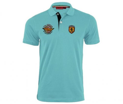 ferrari sky blue polo shirt