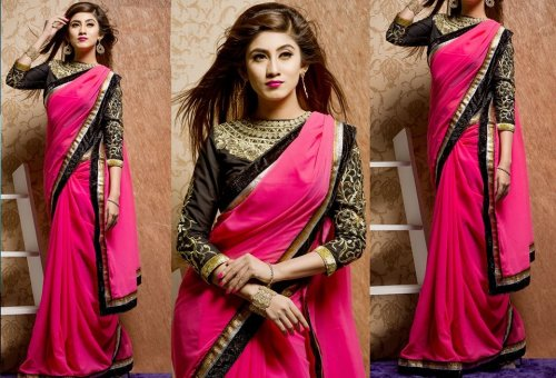 Weight Less Georgette saree SS-146