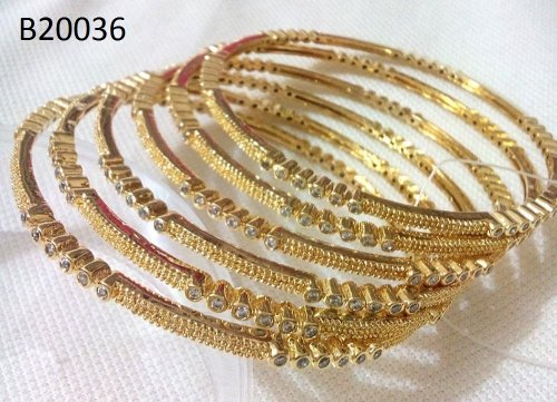 Gold Plated jewelry ornaments Bangles B-20036 (6 pcs)