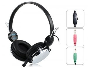Danyin DT-329 3.5 mm Plug Wired Stereo Headset with Microphone & 2.3 m Cable Stereo Headphones