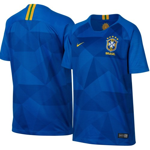 world cup 2018 brazil blue half sleeve jersey