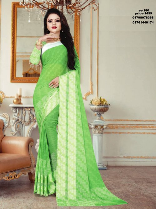 Indian Soft Georgette Saree se-180