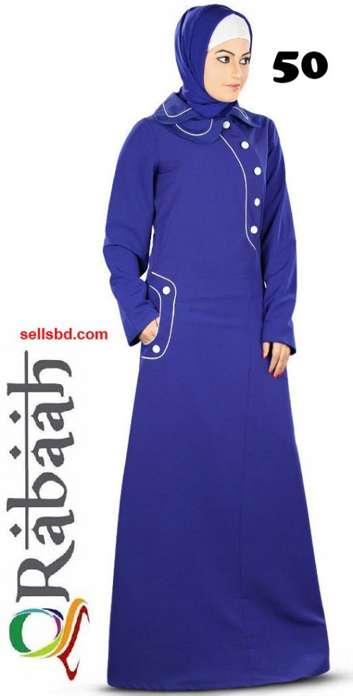 Fashionable muslim dress islamic clothing Rabaah Abaya Burka borka 50