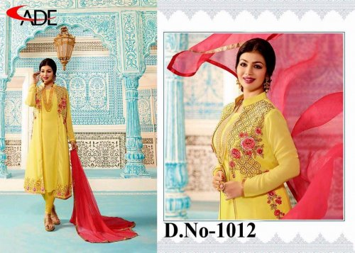 LEMON YELLOW GEORGETTE SALWAR KAMIZ