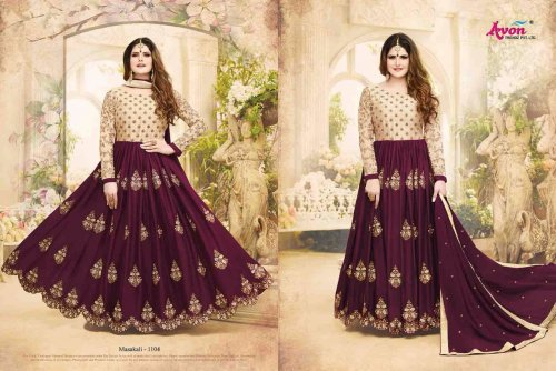un-stitched ZARINE KHAN un-stitched GEORGETTE ANARKALI SUIT
