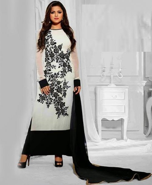 Unstitched Cotton Block Printed Salowar Kameez seblock-313