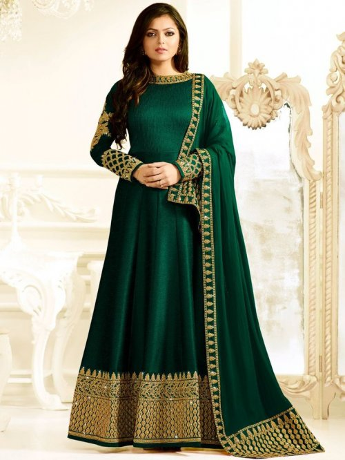 Unstiched Three Piece 1407 Lt Hit_1 soft georgette salwar kameez