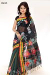 Boishakhi Cotton kota handprint Saree Bois-101