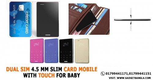 DUAL SIM 4.5 MM SLIM CARD MOBILE WITH TOUCH FOR BABY