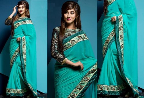 Weight Less Georgette saree SS-152