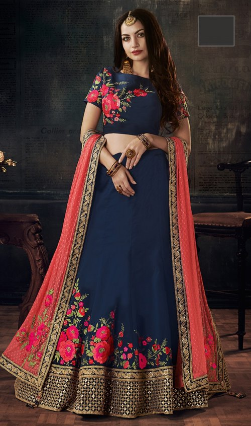 un-stitched lehanga with embroidery work harshita-110