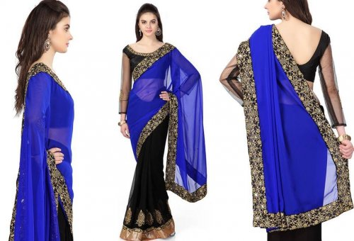 Georgette Saree collection ss80
