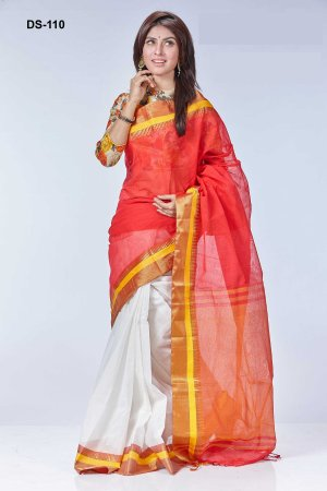Boishakhi tat cotton Saree Bois-110