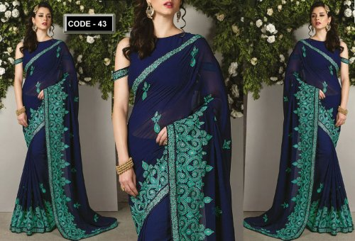 Weight Less Georgette saree Hp-43