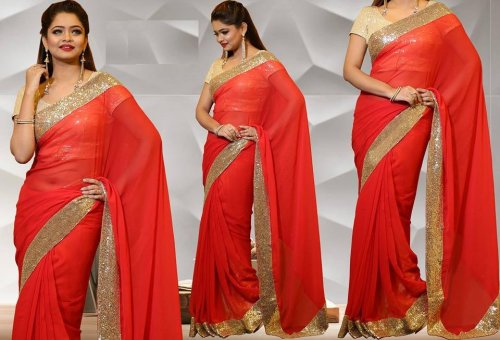 Georgette Saree collection ss222