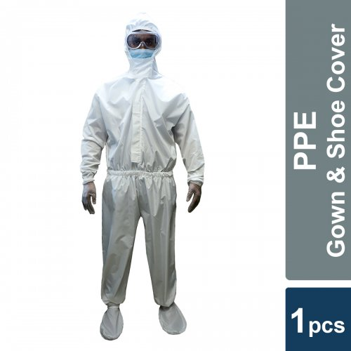 Personal Protective Equipment - PPE - Taffeta - only Gown with shoe cover