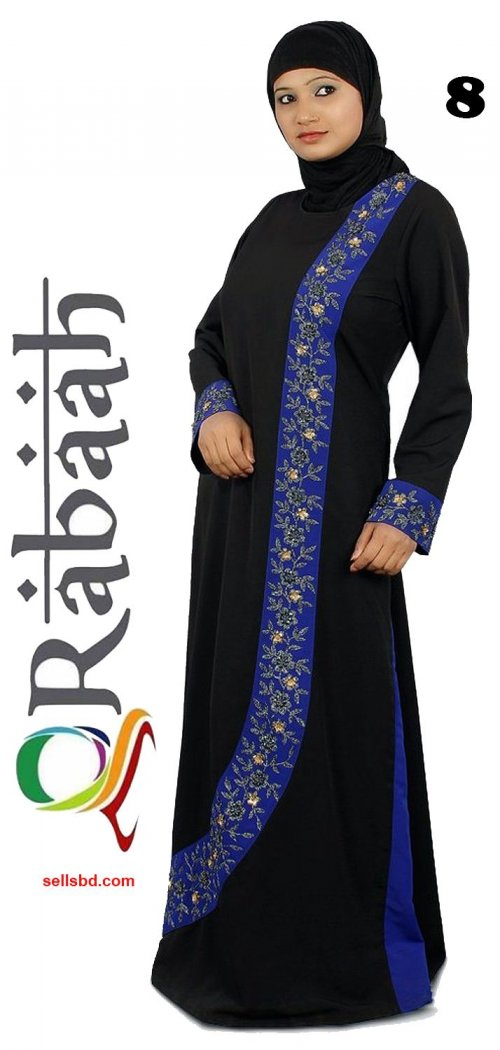 Fashionable muslim dress islamic clothing Rabaah Abaya Burka borka 08