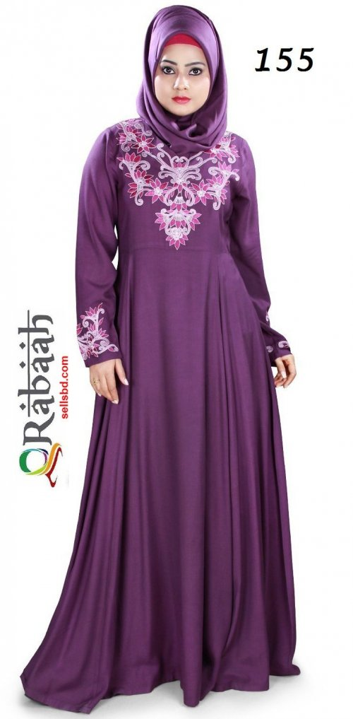 Fashionable muslim dress islamic clothing Rabaah Abaya Burka borka