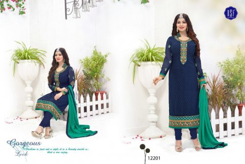 Embroidered salwar kameez S-374