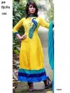 unstiched block printed cotton replica three pcs salwar kameez seblock-245