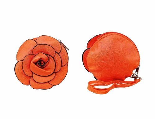 Rose shape ladies purse
