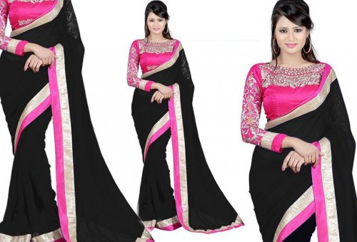 Weight Less Georgette saree SS-142