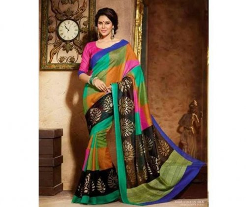 Indian Maheshwari silk sharee