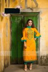 Unstiched block printed Rajdhani voyal cotton salwar kameez seblock-496