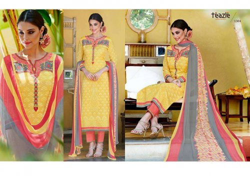 Gorgeous Embroidery Yellow salwar kameez