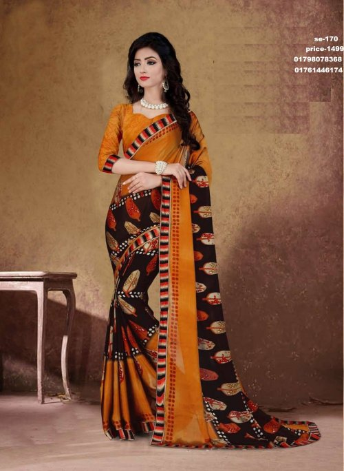 Indian Soft Georgette Saree se-170