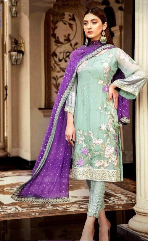 Afrozeh Wedding Suit Chiffon Collection 2020