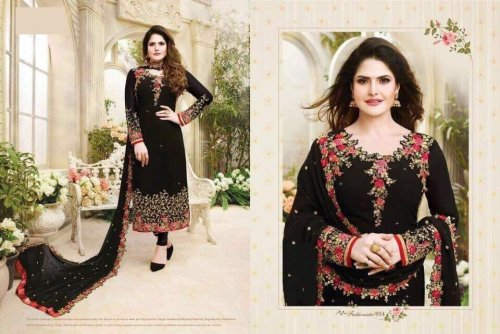 Black Georgette With Embroidery work With Salwar Suit sc-42