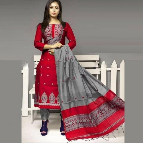 Latest Block Printed 3 piece Salwar Kameez for Women