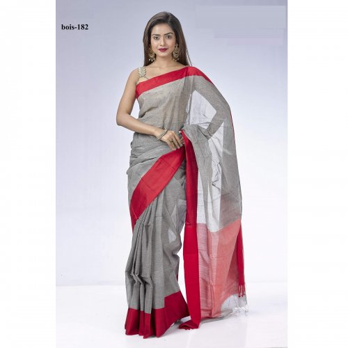 Bibiyana Cotton Tat saree bois-182