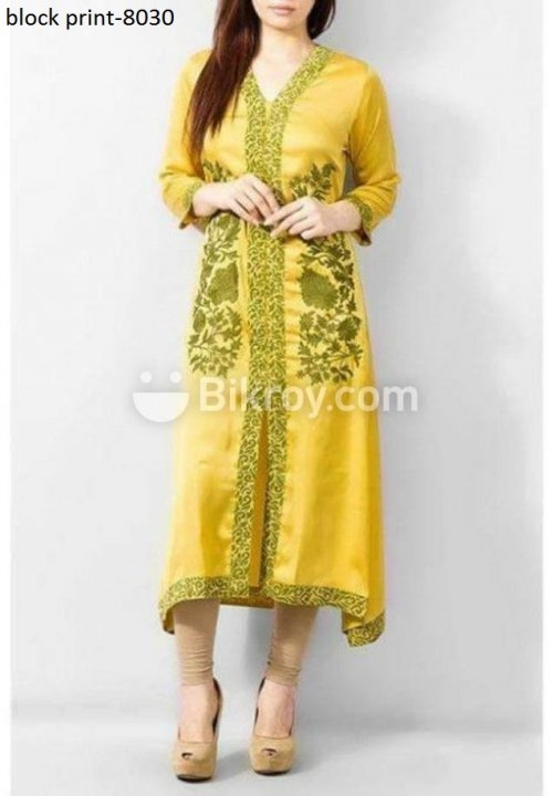 Unstiched block printed cotton replica salwar kameez seblock-8030