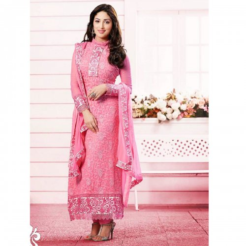 Yami Gautam Pink Cotton Churidar Suit KR-0003
