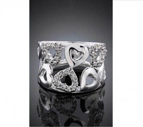 ladies white stone finger ring 2