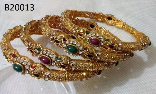 Gold Plated jewelry ornaments Bangles B-20013(4 pcs)